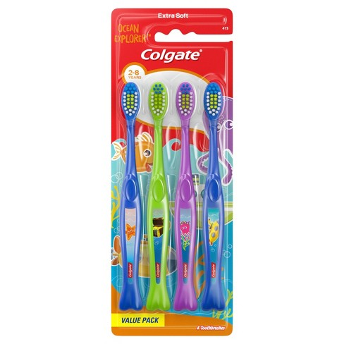 Colgate Kids Toothbrush Value Pack - Extra Soft - Ocean Explorer - 4ct - image 1 of 4