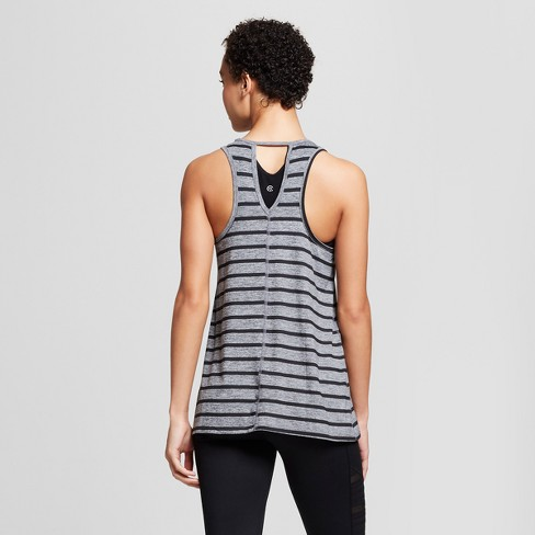 034ee08a4f40 Women s Striped Graphic Tank Top - C9 Champion® Light Heather Gray XL    Target