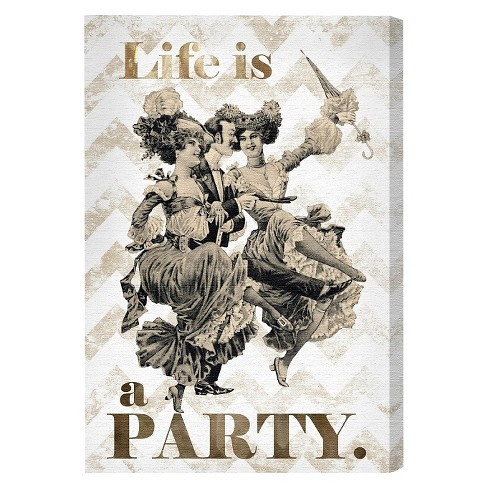 "Oliver Gal Unframed Wall ""Life Is A Party"" Canvas Art - image 1 of 3"