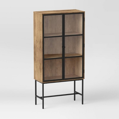 Glass Door Library Cabinet Brown - Project 62™