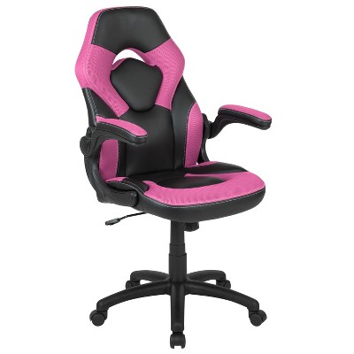 Flash Furniture X10 Gaming Chair Racing Office Ergonomic Computer PC Adjustable Swivel Chair with Flip-up Arms