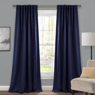 Insulated Back Tab Blackout Window Curtain Panels Set - Lush Décor