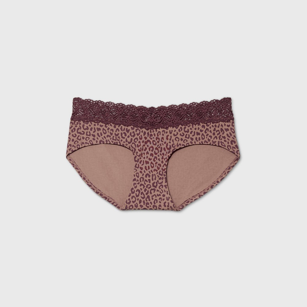 Women 39 S Cotton Hipster Underwear With Lace Waistband Auden 8482 Animal M