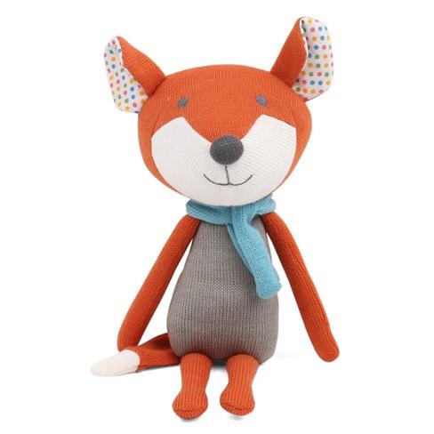 Peanut Shell Francis the Fox Knit Plush - image 1 of 4