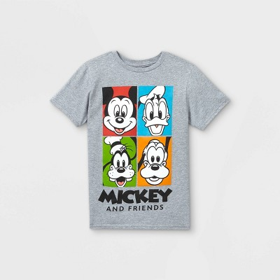 Boys' Disney Mickey Mouse & Friends Short Sleeve Graphic T-Shirt - Gray