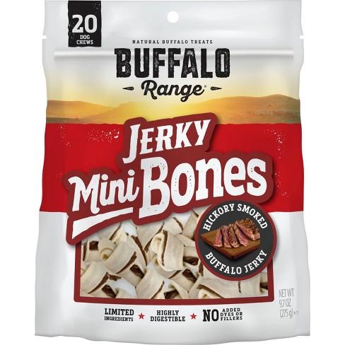 Buffalo Range - Natural Jerky Mini Bones - Rawhide Chews for Dogs - 9.7oz - 20ct - image 1 of 3