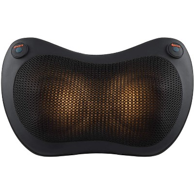 Dartwood Back and Neck Massager for Relieving Back and Neck Muscle Pain with Heat and Deep Kneading for use at Home and in Cars
