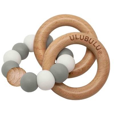 Ulubulu Silicone with Wood Teether - Gray
