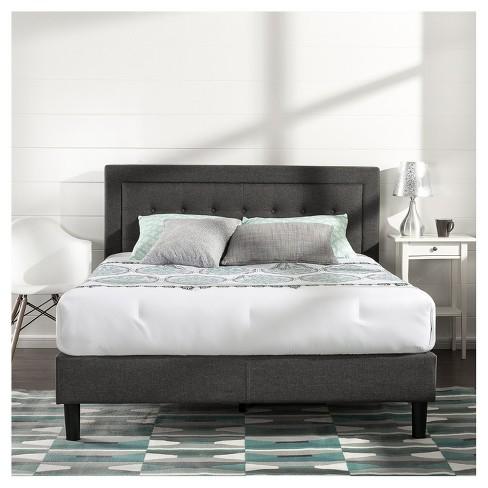 Dupont Tufted Upholstered Platform Bed King Black Espresso Sleep Revolution Target