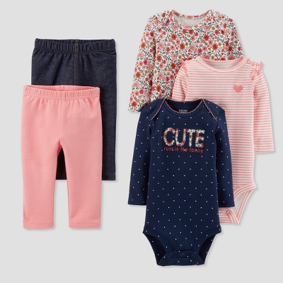 Baby Girls' Floral Bundle Set - Just One You® made by carter's Blue 6M