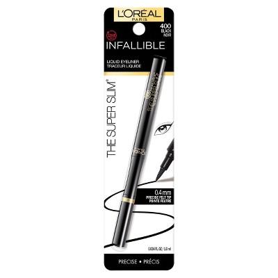 L'Oreal Paris Infallible Super Slim Liner 400 Black .034 fl oz