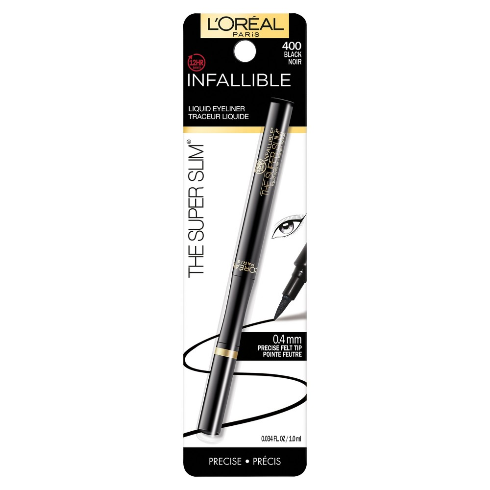 Image of L'Oreal Paris Infallible Super Slim Liner 400 Black .034 fl oz, Black 400