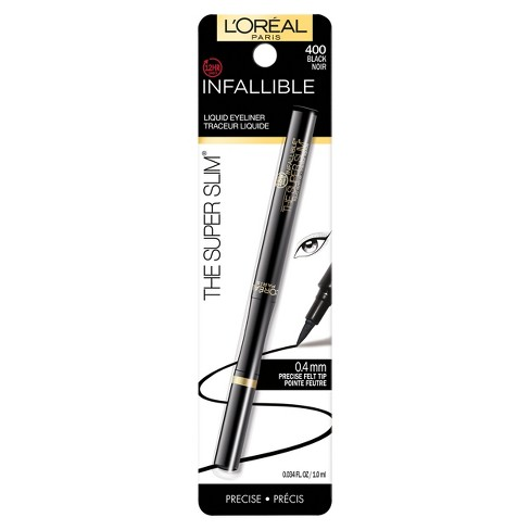 L'Oreal Paris Infallible Super Slim Liner 400 Black .034 fl oz - image 1 of 3