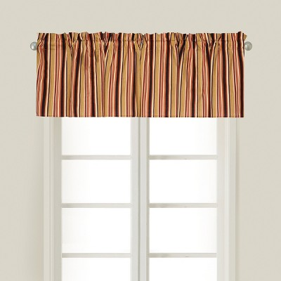 C&F Home Rustic Stripes Cotton Valance Window Treatment