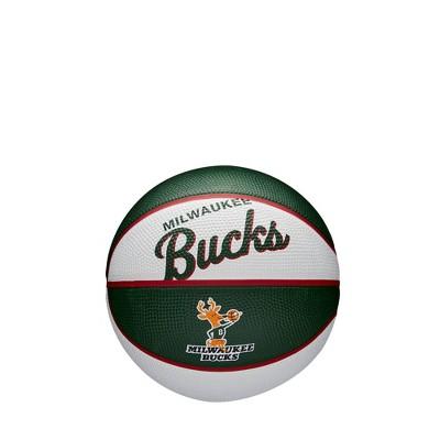 NBA Milwaukee Bucks Retro Mini Basketball