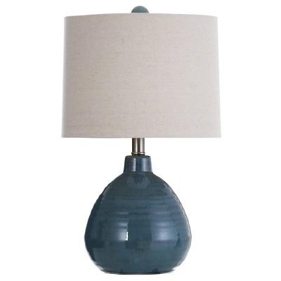 Ceramic Table Lamp Turquoise - StyleCraft