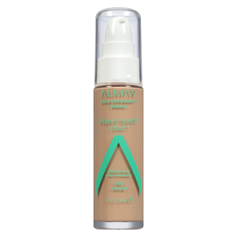Image of Almay Clear Complexion Makeup Make Myself Clear 400 Neutral - 1 fl oz.