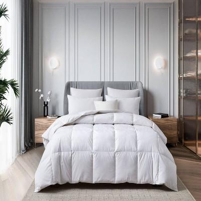 All Seasons Cotton Blend Goose Feather Down Fiber Comforter - Martha Stewart