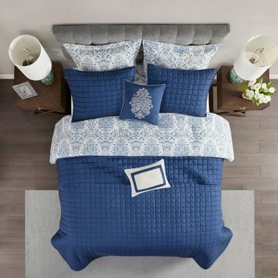 8pc Reese Printed Seersucker Comforter and Coverlet Set