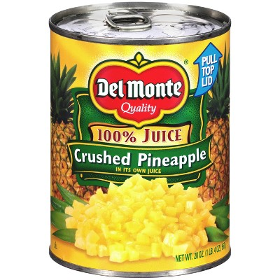 Del Monte Crushed Pineapple in 100% Juice 20oz