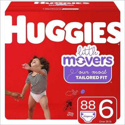 Huggies Little Movers Diapers Huge Pack - Size 6 (84ct)