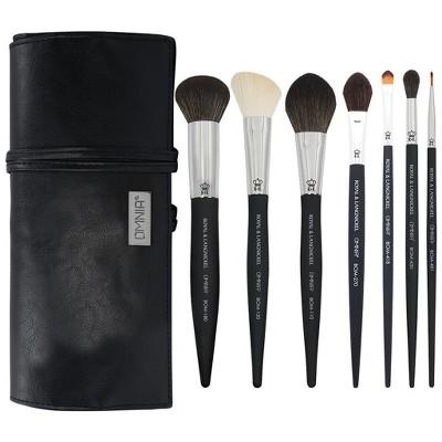 OMNIA Brush Artist Favorites, Deepti Sheladia, 8pc Makeup Brush Set with Wrap