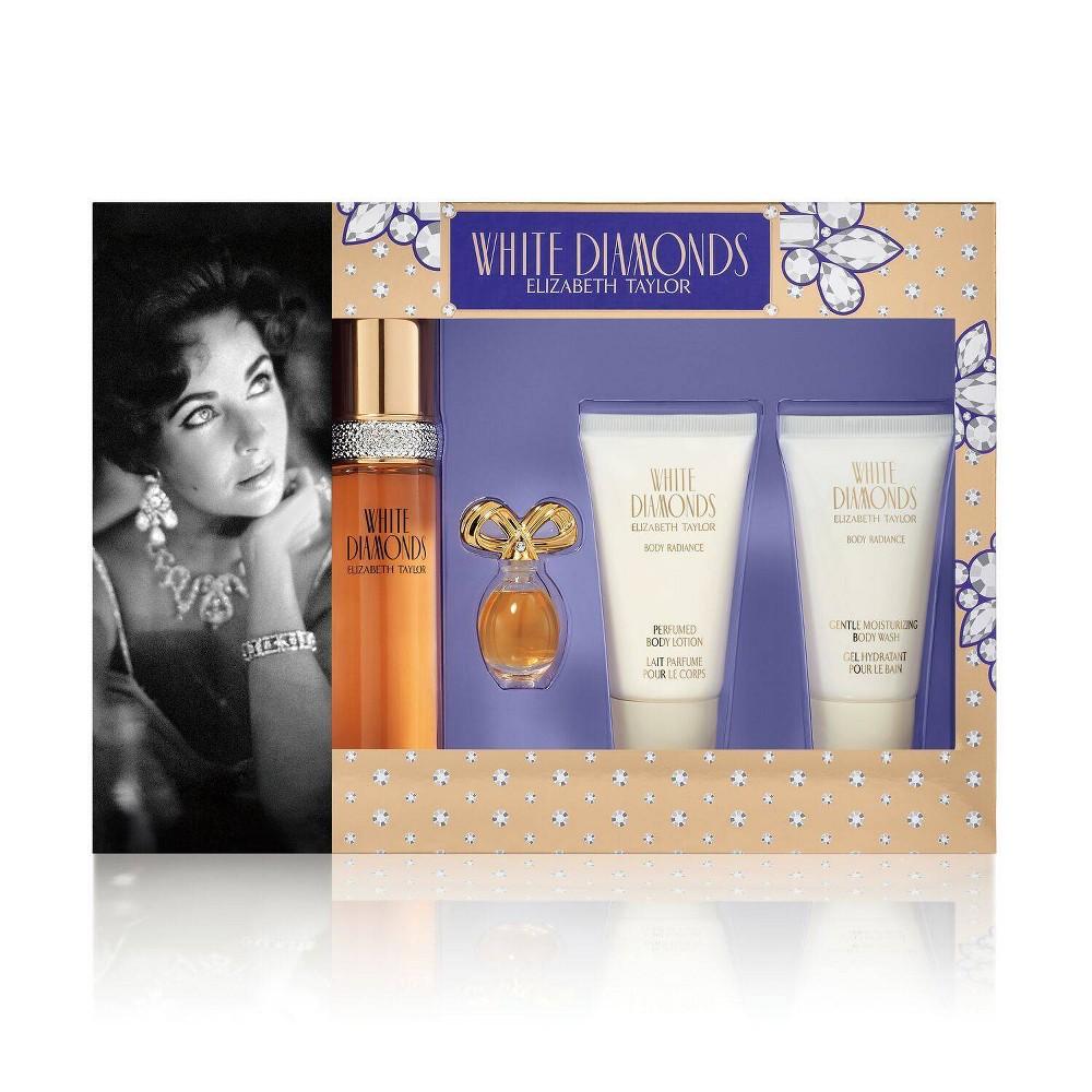 Image of Women's Elizabeth Taylor White Diamonds Fragrance Gift Set - 4pc