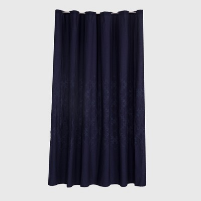 embroidered Shower Curtain Xavier Navy - Threshold™