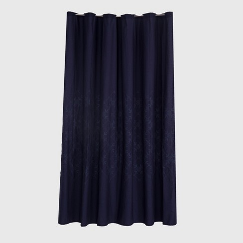 embroidered Shower Curtain Xavier Navy - Threshold™ - image 1 of 1