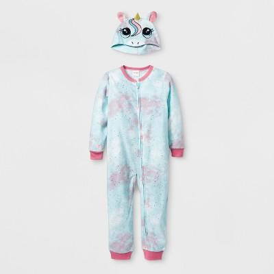 Toddler Girls' Unicorn Blanket Sleeper - Cat & Jack™ Pleasant Turquoise 4T