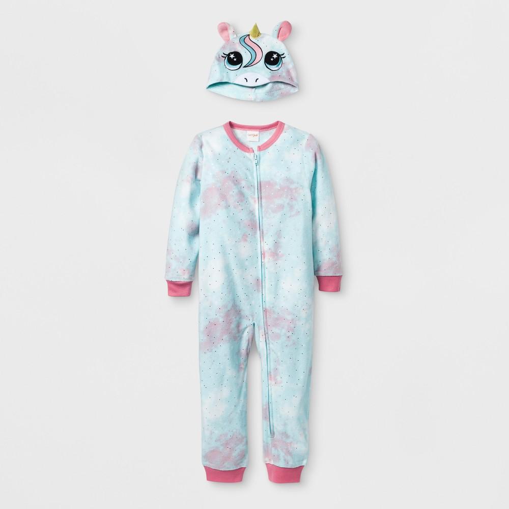 Toddler Girls' Unicorn Blanket Sleeper - Cat & Jack Pleasant Turquoise 3T, Blue