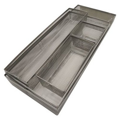 Mesh Drawer Organizer Silver - Room Essentials™