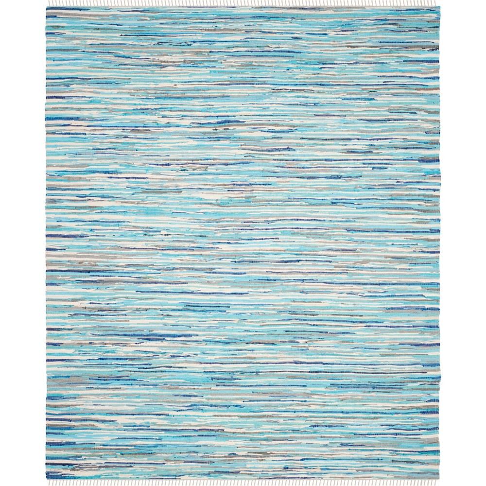 10'X14' Spacedye Design Woven Area Rug Turquoise - Safavieh, Turquoise/Multi-Colored