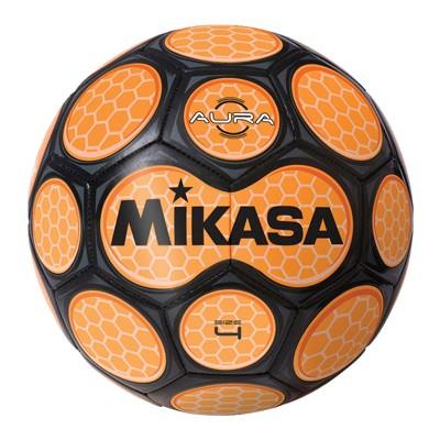Mikasa Aura Model Soccer Ball, Size 4, Black and Neon Orange