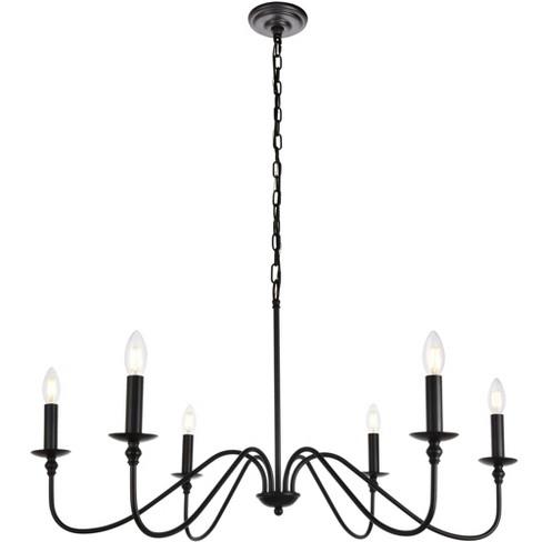 "Elegant Lighting LD5006D36 Rohan 6 Light 36"" Wide Taper Candle Chandelier - image 1 of 4"