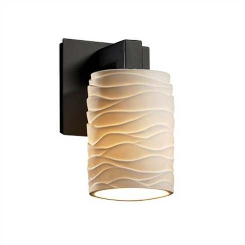 """Justice Design Group POR-8921-10-WAVE Limoges Single Light 7-3/4"""" Tall Wall Sconce - image 1 of 1"""