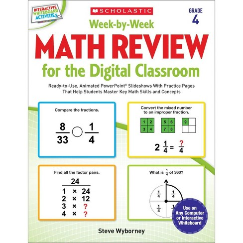 Scholastic Week by Week Math Review for Digital Classrooms, Grade 4 - image 1 of 1