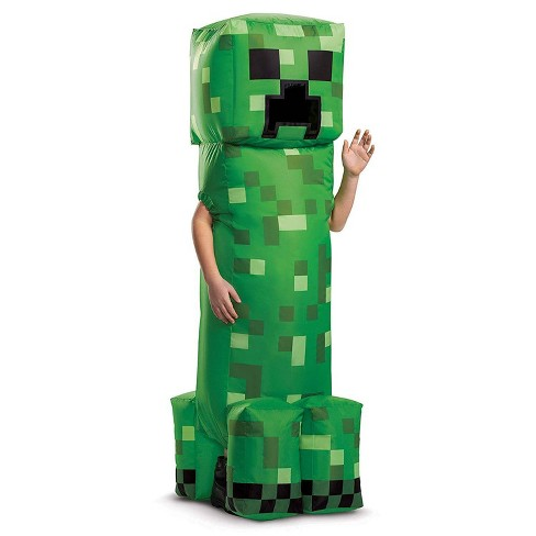 Kids' Minecraft Creeper Inflatable Halloween Costume One Size - image 1 of 1
