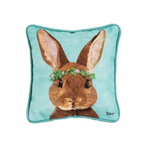 C F Home 8 X 8 Clover Easter Bunny Spring Petite Throw Pillow Target