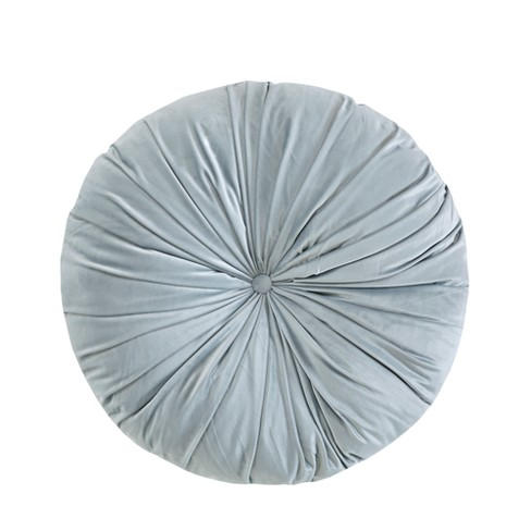 Cyan Velvet Round Floor Pillow Cushion - image 1 of 6