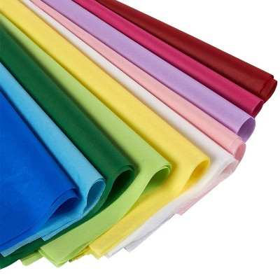 """Juvale 120 Sheets Tissue Paper Gift Wrap for Gift Bags, DIY Crafts, Birthdays, 19.7""""x26"""", Assorted Colors"""