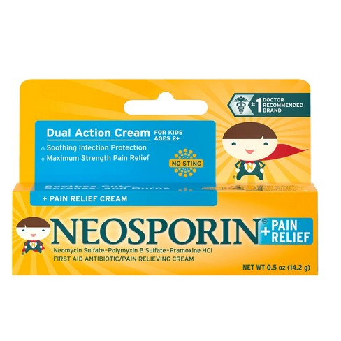 Neosporin Antibiotic and Pain Relieving Cream for Children - 0.5 oz - image 1 of 6