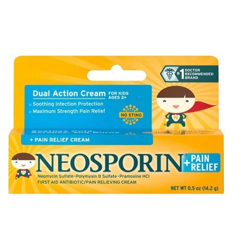 Neosporin Antibiotic and Pain Relieving Cream for Children - 0.5 oz - image 1 of 4