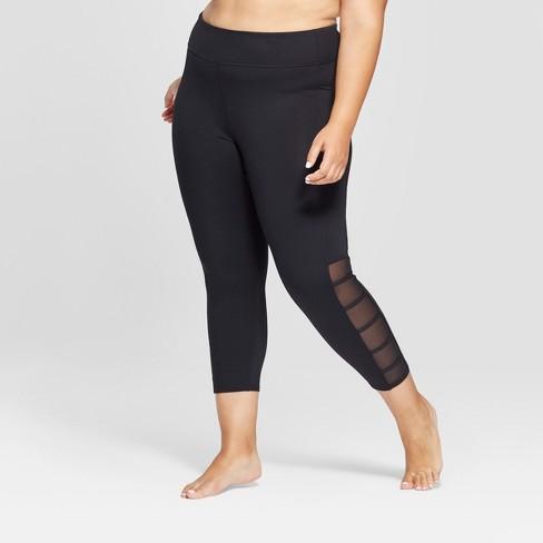 72b738019c7 Women s Plus Comfort Lattice Mid-Rise Capri Leggings - JoyLab™ Black ...