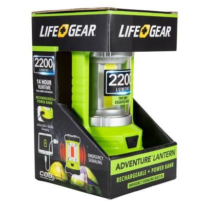 Life+Gear Adventure 2200 Lumens LED Lantern with Power Bank