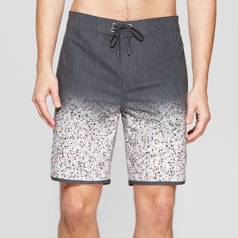 Men's 8.5 Radial Board Shorts - Goodfellow & Co Black 33