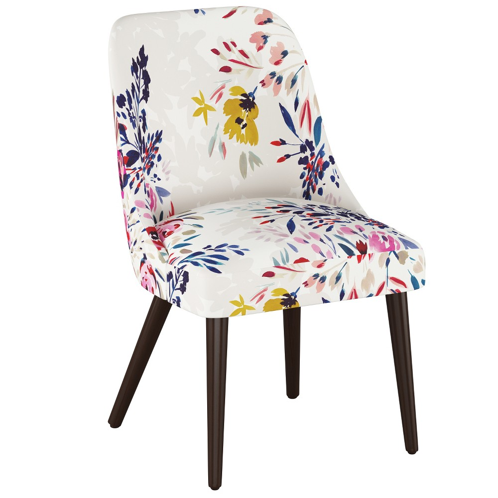 Jeanne Rounded Back Dining Chair Multi Floral - Cloth & Co