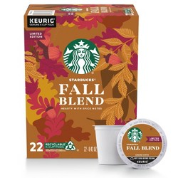 Starbucks Fall Blend Medium Roast Coffee - Keurig K-Cup Pods - 22ct