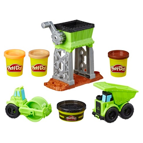 Play-Doh Wheels Gravel Yard Construction Toy with Non-Toxic Pavement Buildin' Compound Plus 3 Additional Colors - image 1 of 9