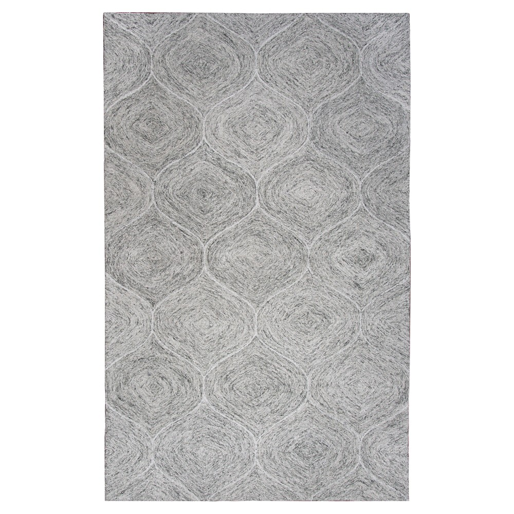Light Gray Trellis Tufted Area Rug 5'X8' - Rizzy Home